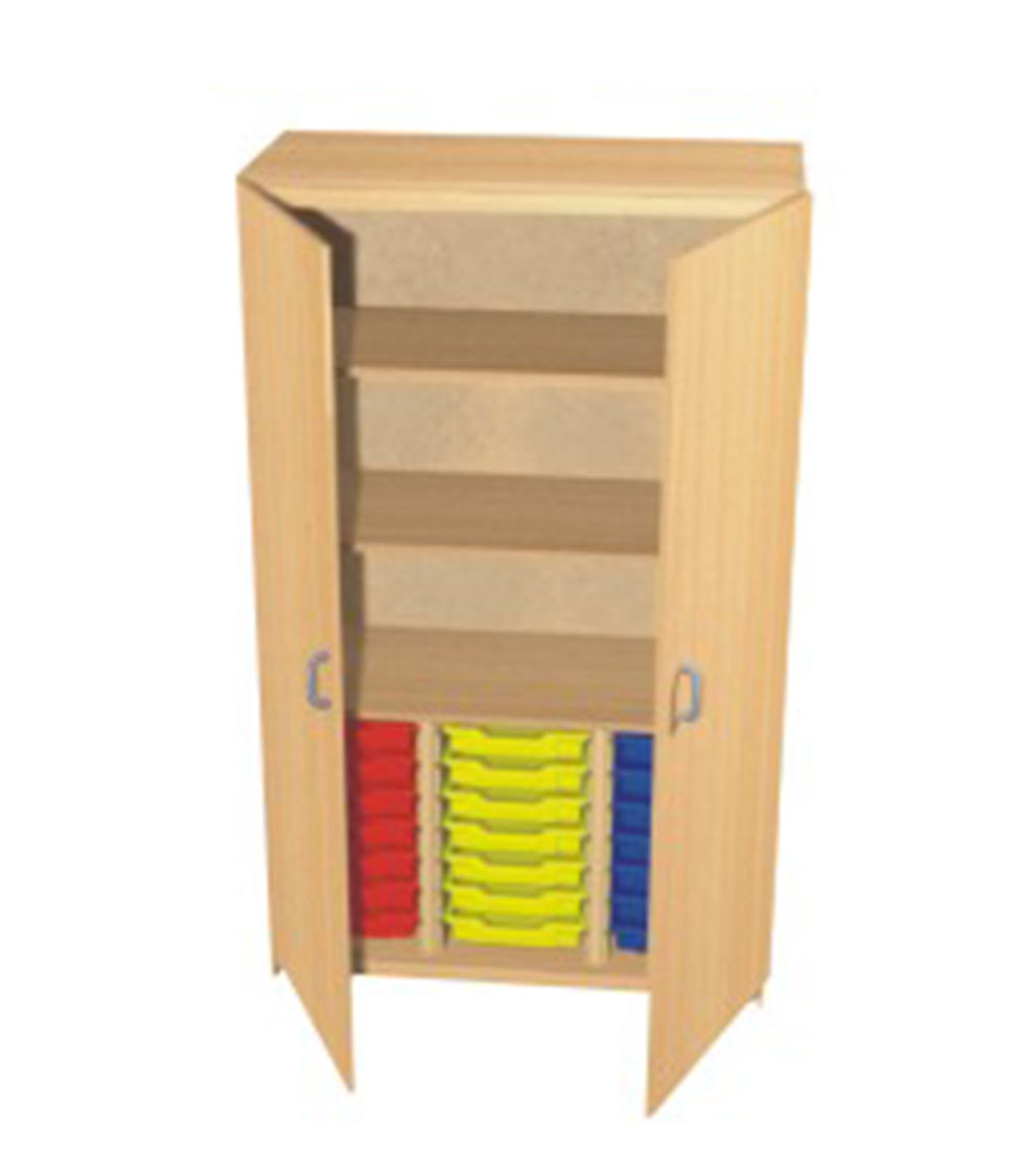 6 ft triple bay storage cupboard sc2 central educational for Storage bay